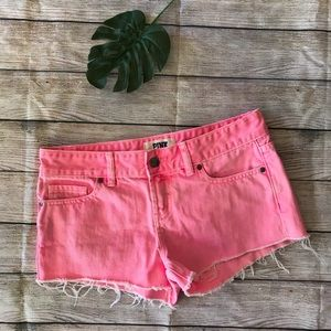 Victoria's Secret Pink Denim Frayed Shorts